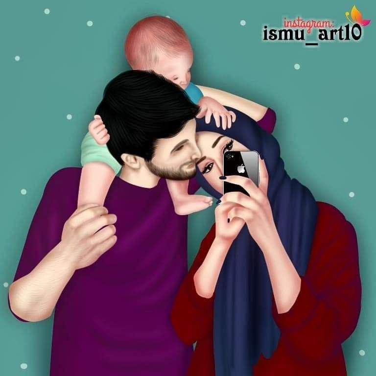 Pin By Mufidha Azeez On Mother Father Family Family Cartoon Love Cartoon Couple Parenting Illustration