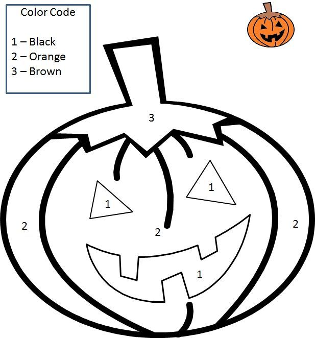 Color By Number Halloween Pumpkin Crafts And Worksheets For Preschool Toddler And Kin Halloween Worksheets Pumpkin Coloring Pages Halloween Coloring Pages