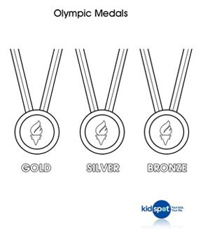 Olympic Medal Coloring Page Olympic Medals Olympic Colors Winter Olympics