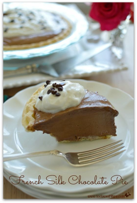 French silk chocolate cake   - Pies, Tarts, & Galettes -