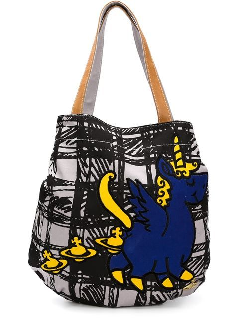 e1ea48506a7 Shop Vivienne Westwood Anglomania 'Unicorn' shopper tote in Anastasia  Boutique from the world's best independent boutiques at farfetch.com.