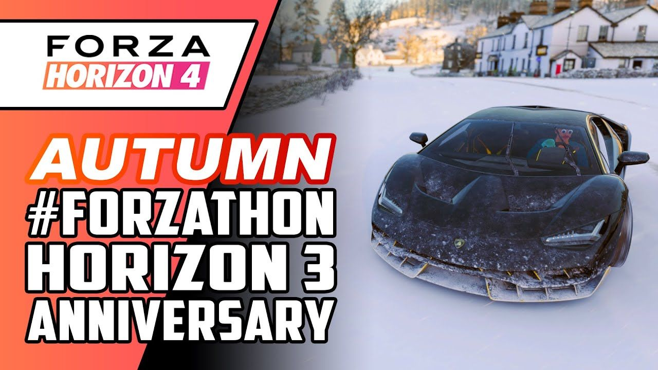Forza Horizon 4 Winter Forzathon Horizon 3 Anniversary