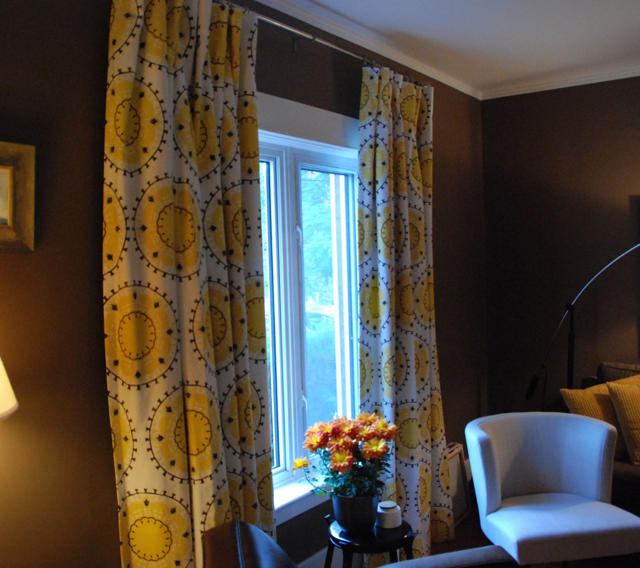 drapestonic living in medallion band (in citrine). | curtains
