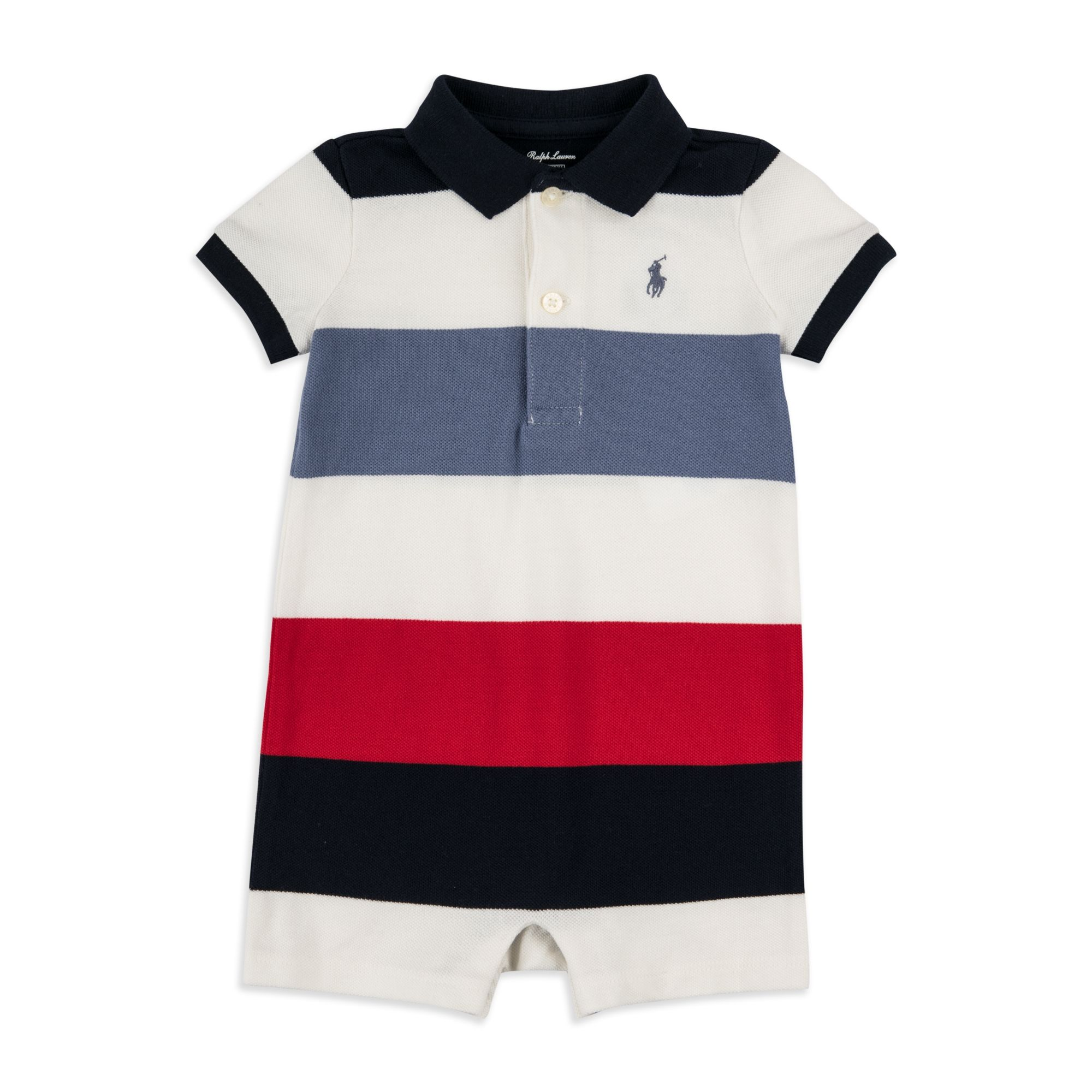 1bfd7ecb1 RALPH LAUREN Baby Boys Colour-Block Polo Shortall - Multi Ralph Lauren baby  boys shortall in soft cotton pique will make a great addition to any  wardrobe.