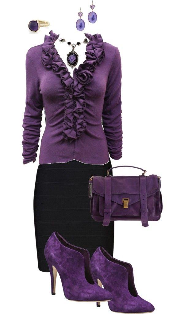 """Purple Passion"" by lori-douglas-hallman ❤ liked on Polyvore"