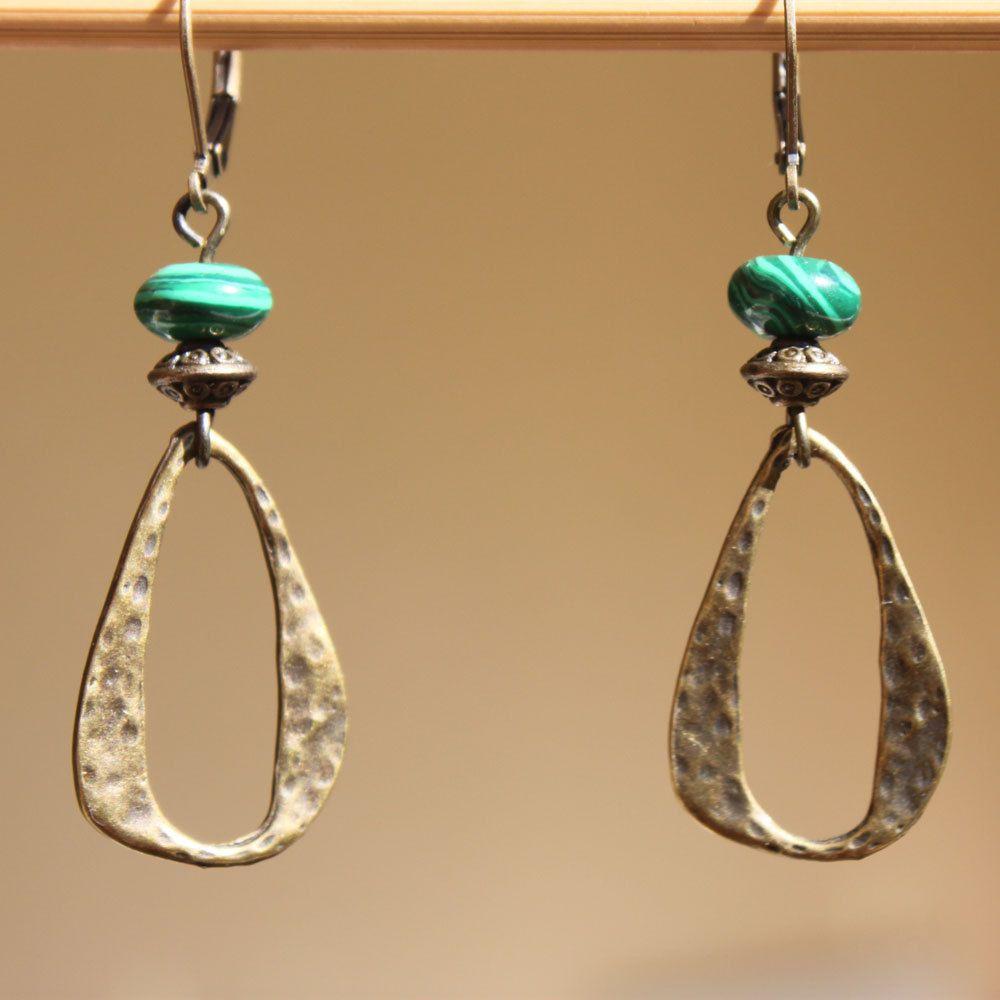 Boho Earrings Brass Turquoise Earrings Dangle Drop earrings Boho Jewelry Bohemian Jewelry Bohemian Earrings Gift For Her Gift for women