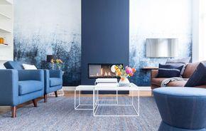 woonkamer blauw vt wonen weer verliefd op je huis 251015. verfkleur ...