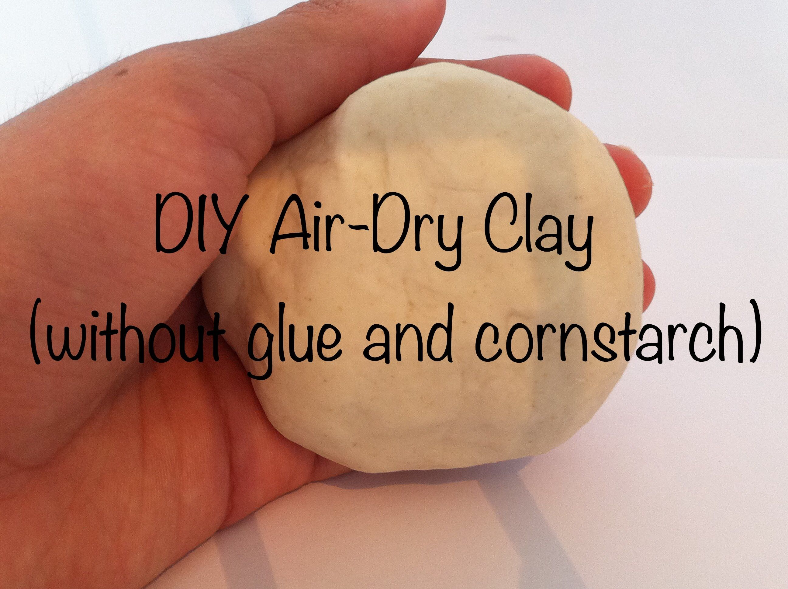 DIY Air Dry Clay (without glue and cornstarch) YouTube