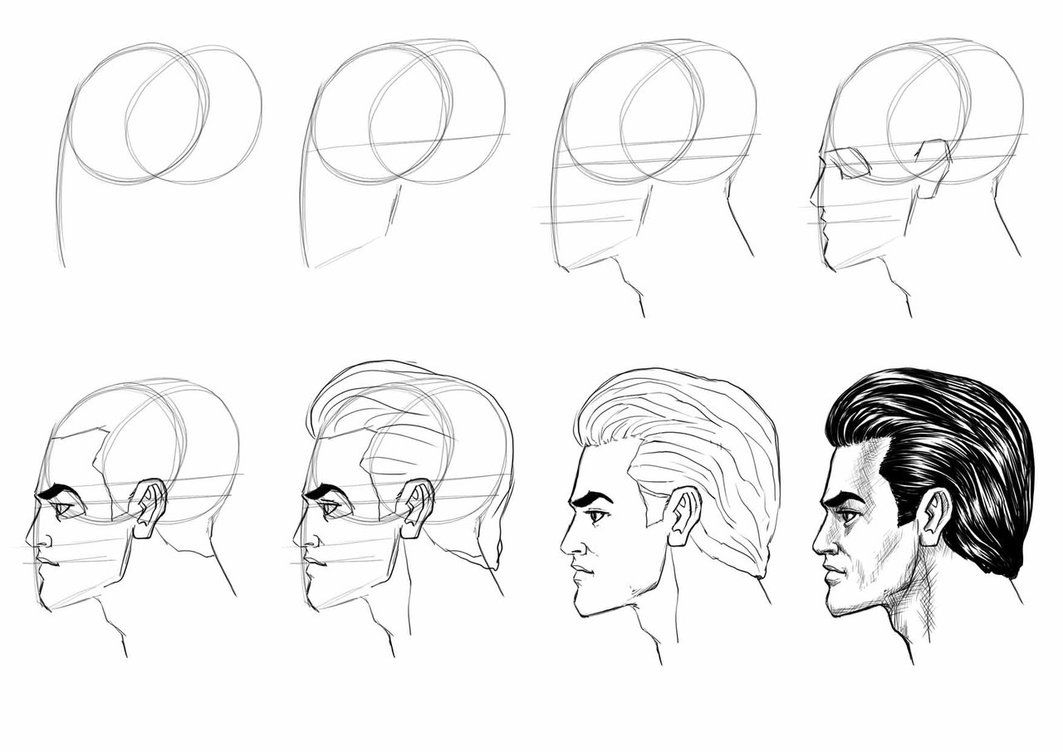 This is a simple tutorial to master human head from the side view
