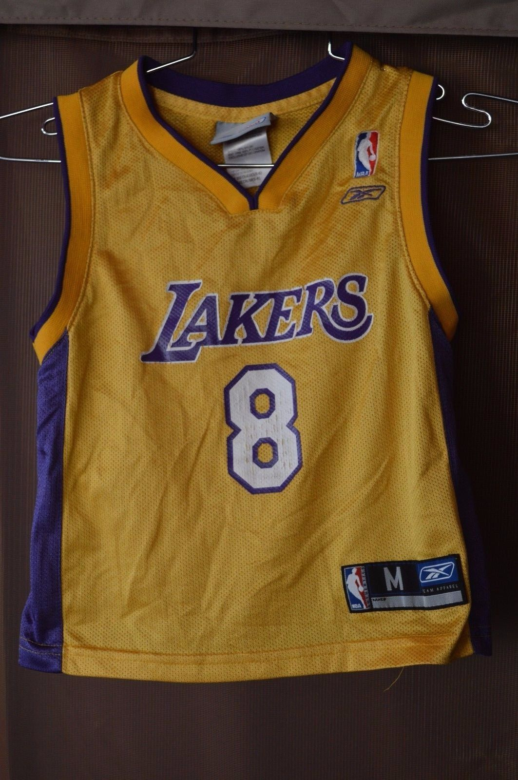 e4e067720 Rare Vintage Reebok Los Angeles Lakers Kobe Bryant 8 Jersey Gold Youth M 5-6