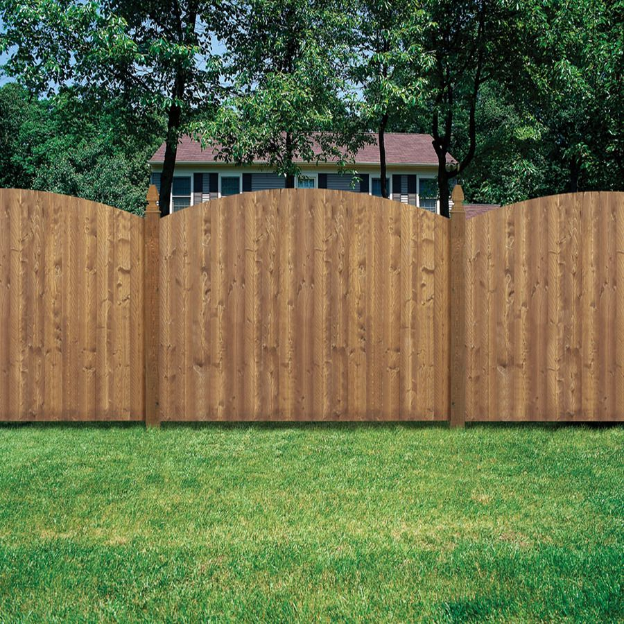 Shop barrette 8 ft x 6 ft spruce dog ear wood fence for Wood privacy fence ideas