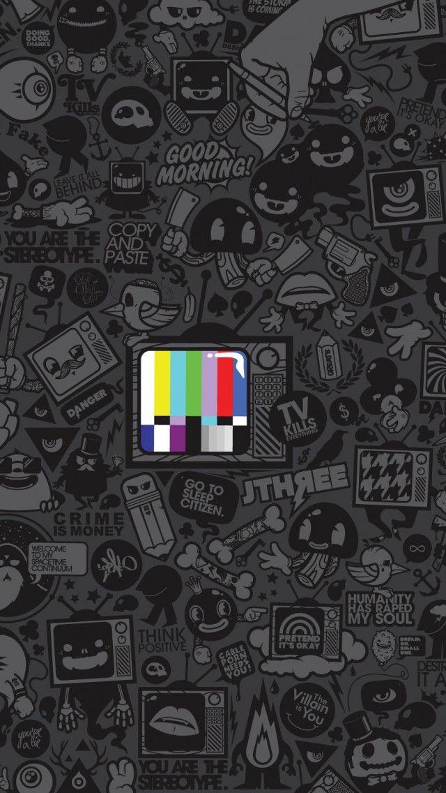 Tv Kills Everything IPhone Se Wallpaper