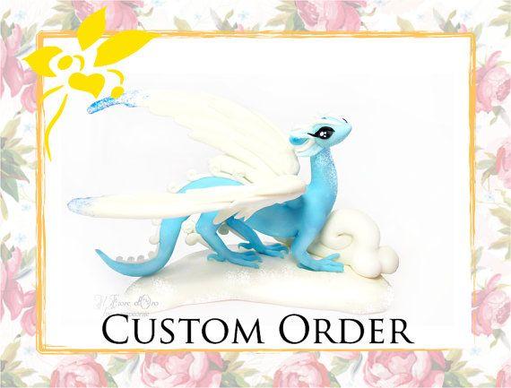 CUSTOM ORDER  Complex Spirit dragon commission by ilFioredOro