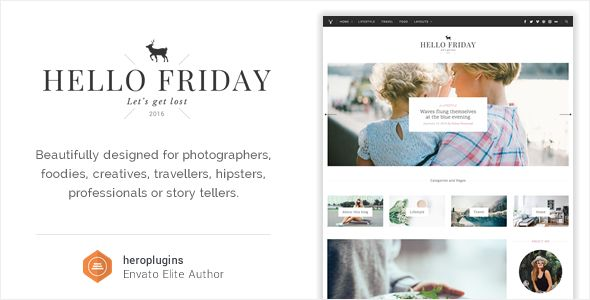Hello Friday Elegant Lifestyle Blog Theme A Beautifully Designed