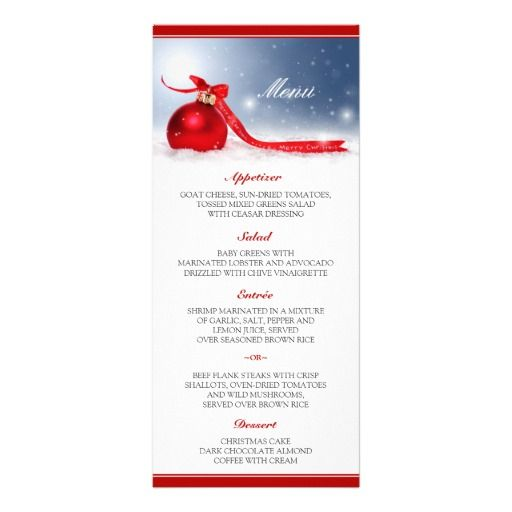 Christmas Dinner Menu Cards Template Christmas dinner menu, Menu - dinner card template