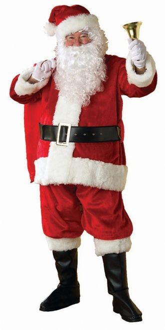 Merry Christmas embroidered FAUX FUR SANTA Claus HAT Plush One size fits most