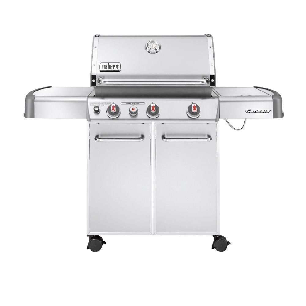 Weber Genesis S-330 3-Burner Propane Gas Grill in Stainless Steel ...