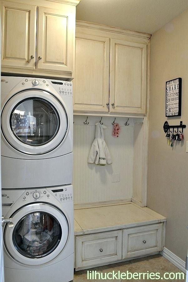 Laundry Room Cabinets Stackable Washer Dryer Top Ideas Stacked With The And Laundry Room Diy Rustic Laundry Rooms Washer Dryer Laundry Room