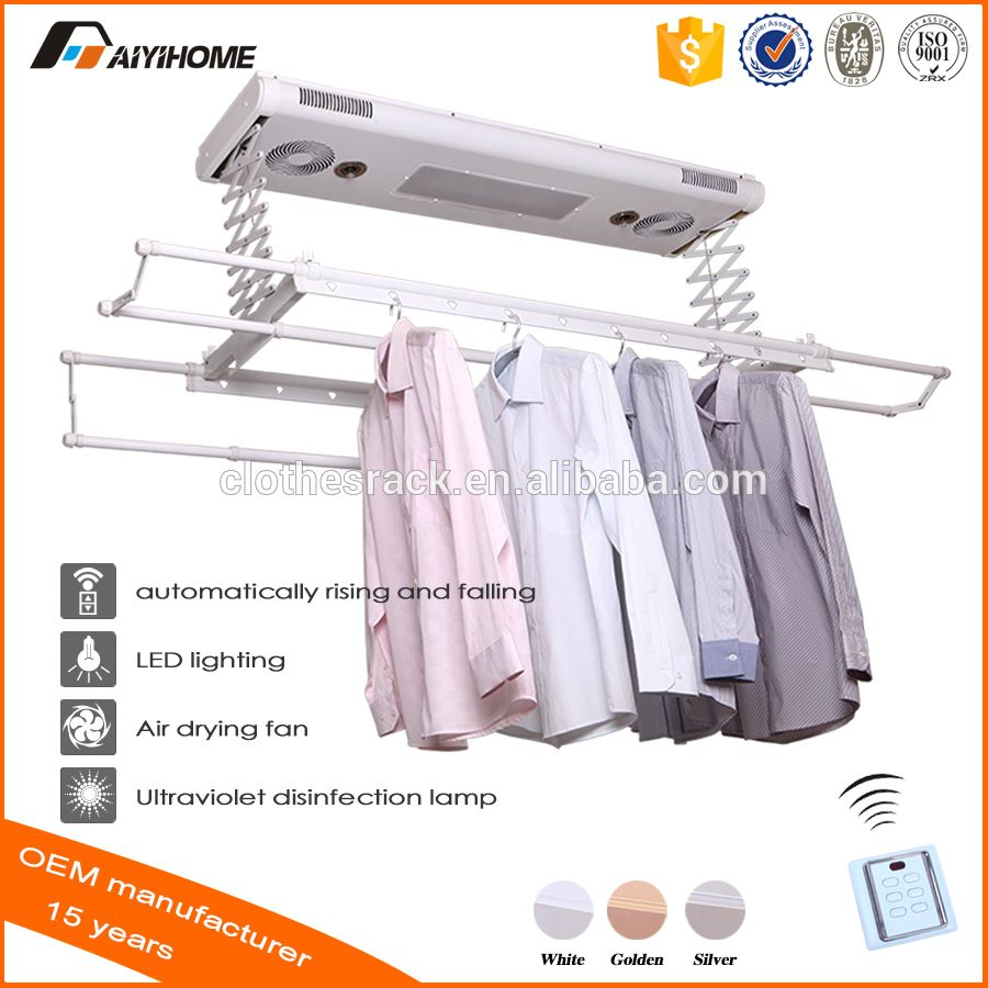 Ceiling Mounted Electric Clothes Dryer With Uv Lights Fans Remote