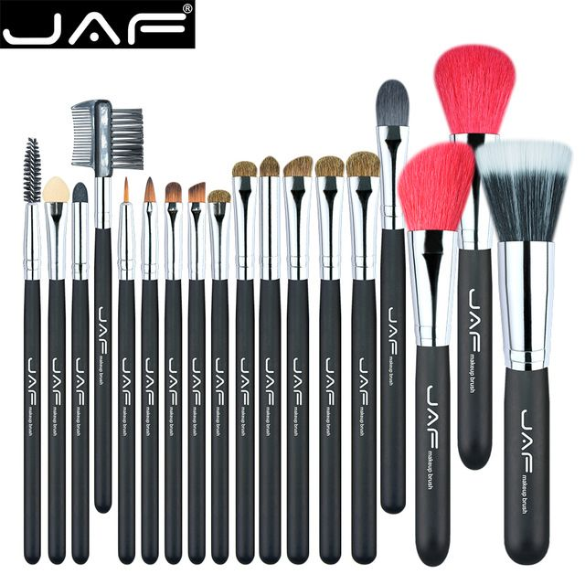 Jaf 18 Pcs Make Up Brush Set Natural Super Soft Red Goat Hair Pony Horse Hair Studio Beaut Makeup Brush Set Professional Makeup Brush Set Top Makeup Products