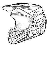 Resultado de imagen de dibujos de cascos de moto para colorear