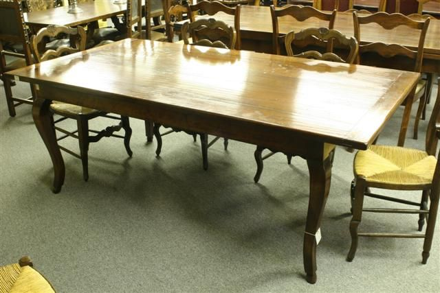 7eeb4eaaf11b 18th century style custom French farmhouse table in cherry.  antique  table   cherry