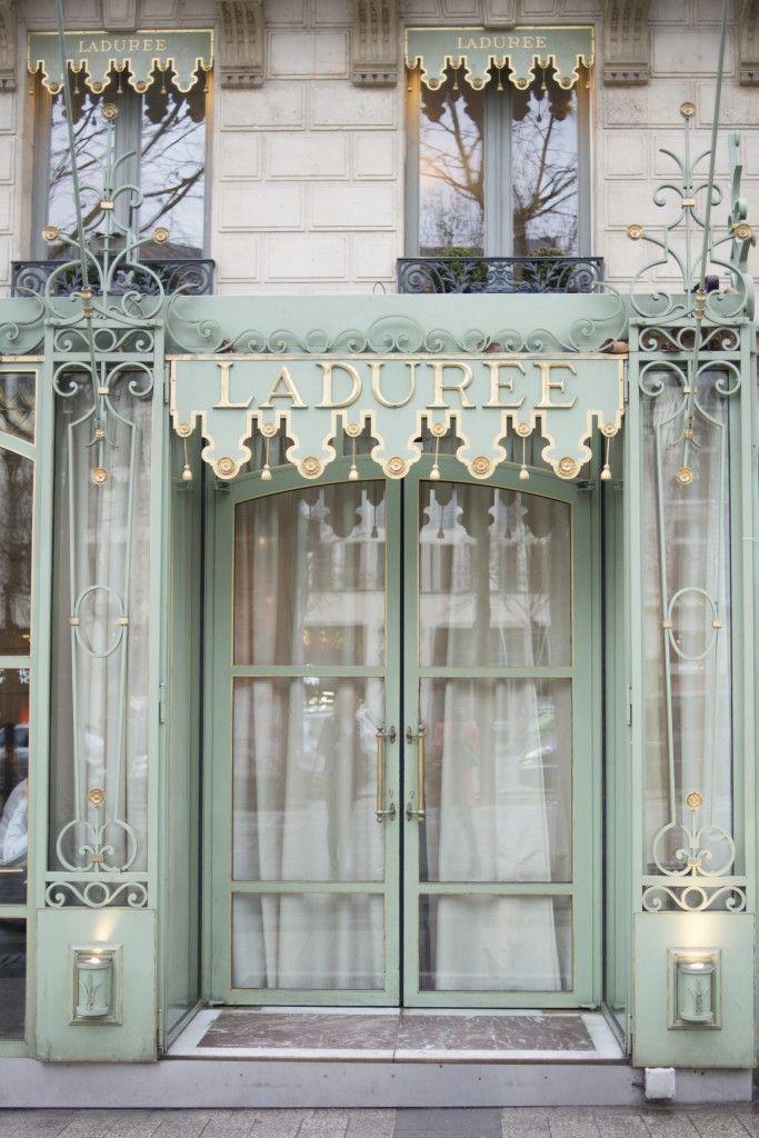 PARIS Laduree - so wish we had gone in... the queue was out the door :(