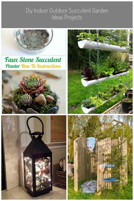 Diy Indoor Outdoor Succulent Garden Ideas Projects In 2020 Garten Design Diy Garden Indoor Outdoor