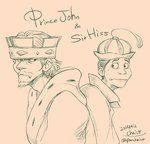 Prince John and Sir Hiss by chacckco