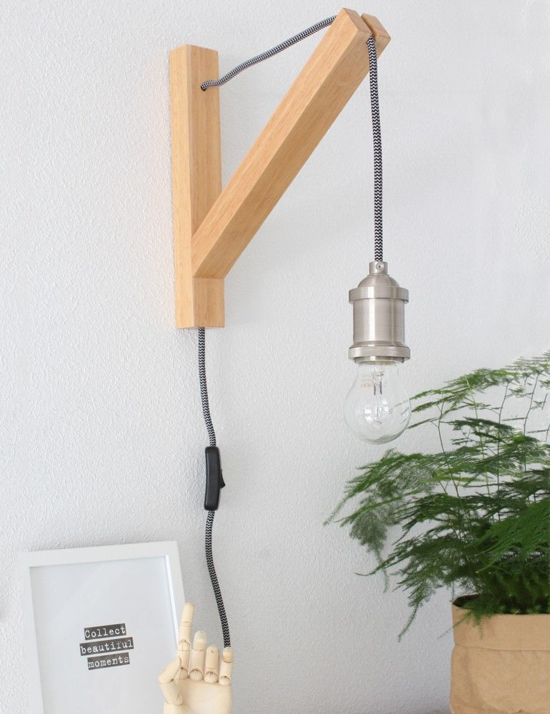 Awesome galg wandlamp hout lumidem obiang with aparte for Aparte lampen
