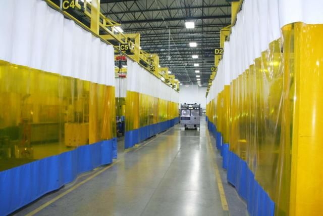 Welding Curtain Plastic Curtains Colorful Curtains Exhibition