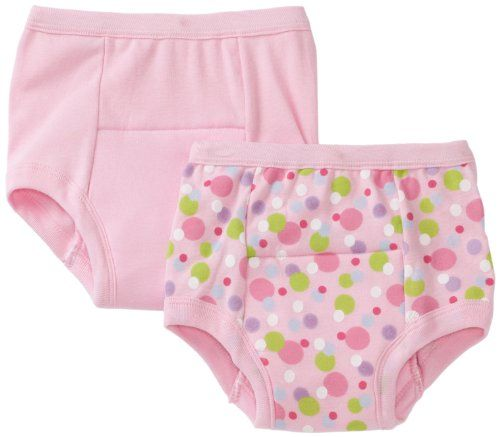 Green Sprouts Girls-baby Infant Training 2 Pack Underwear, Pink, 24 Months i play.