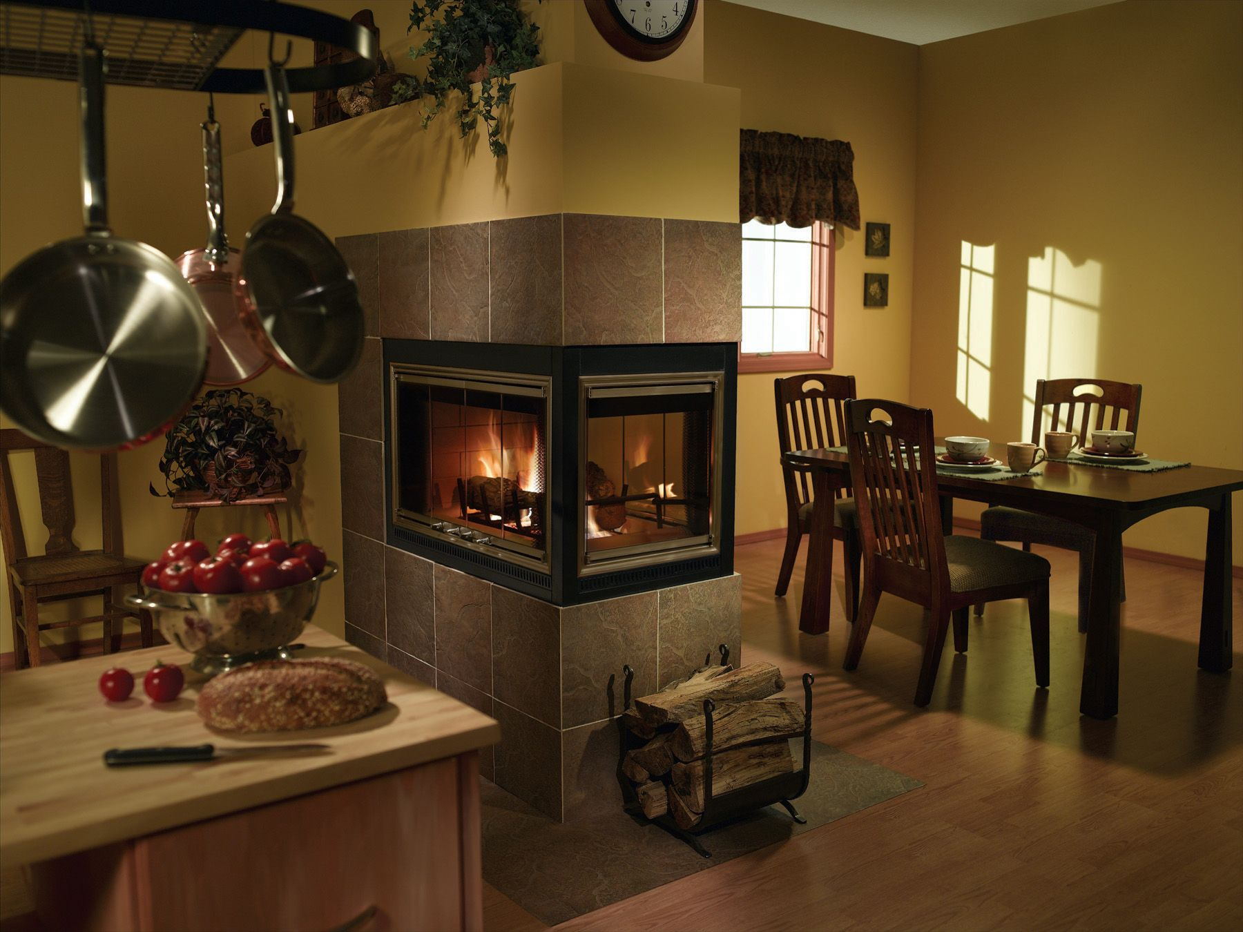 Kitchen Fireplace Design Ideas Part - 33: 2 Sided Fireplace Inserts Wood Burning | ... : NYC Fireplaces And Outdoor  Kitchens