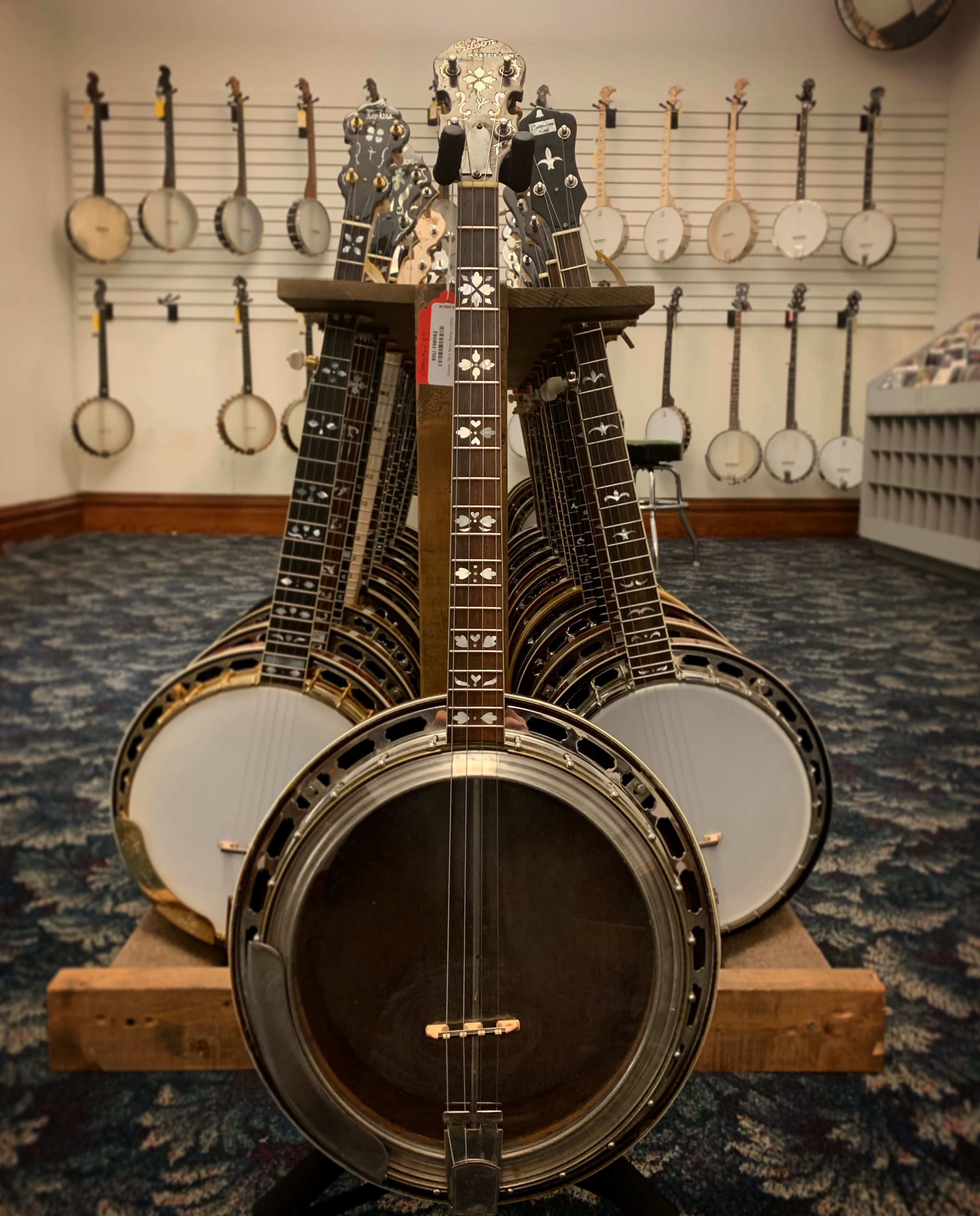A nice instrument from the early 20th century, this Gibson TB-4