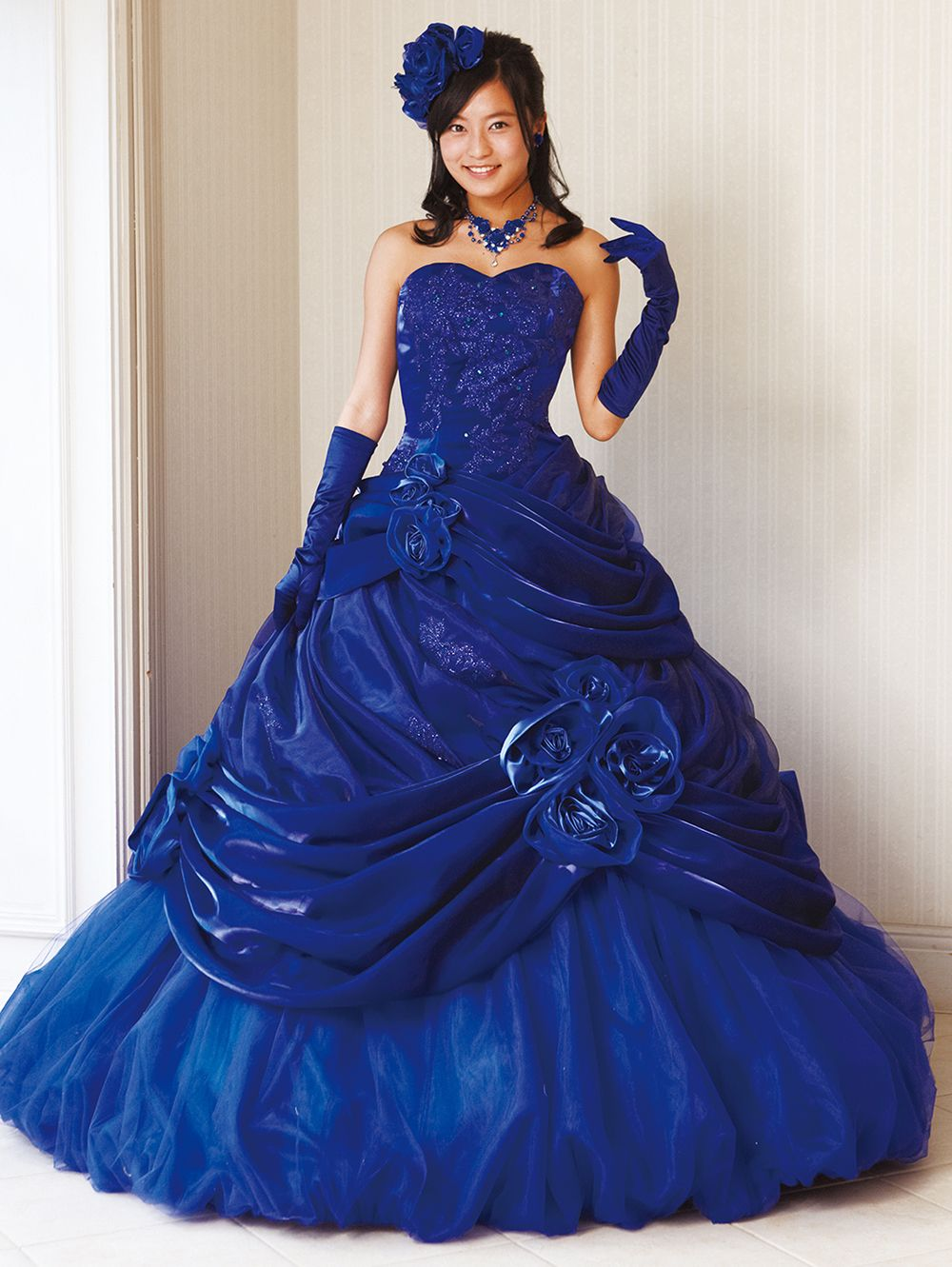 aya0151blue | ドレス 青, ドレススタイル, 夜会服