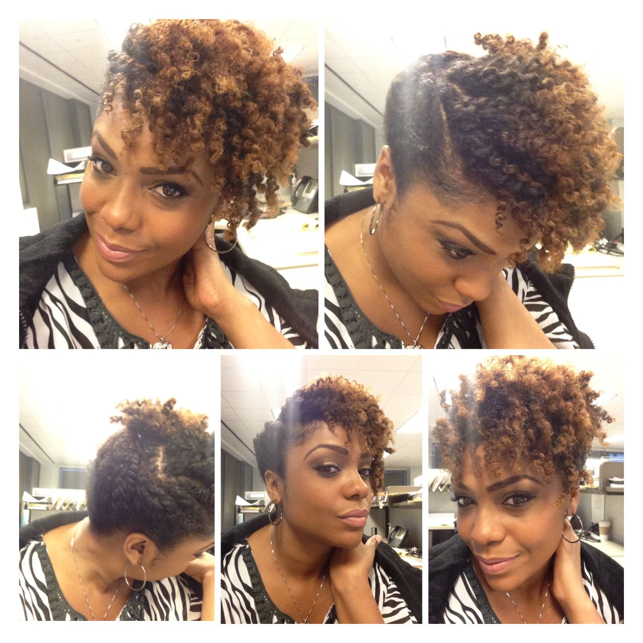 Easy natural hair style. Quick and sexy. With images ...