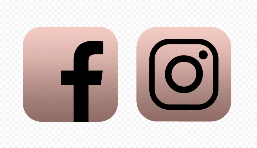 Hd Facebook Instagram Rose Gold Black Logos Icons Png In 2021 Logo Icons Black Logo Birthday Template