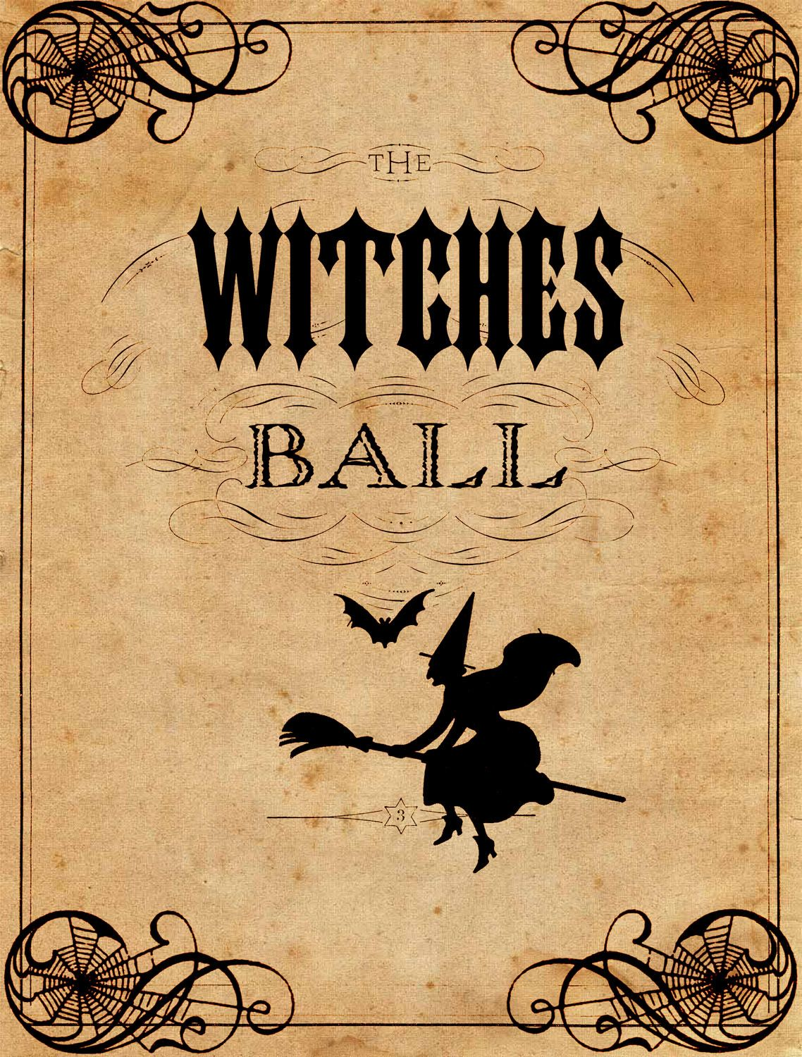 Vintage halloween decorations -  The Graphics Fairy Llc Vintage Halloween Printable The Witches Ball