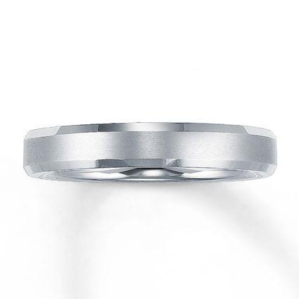 Kay - Wedding Band White Tungsten Carbide 4mm