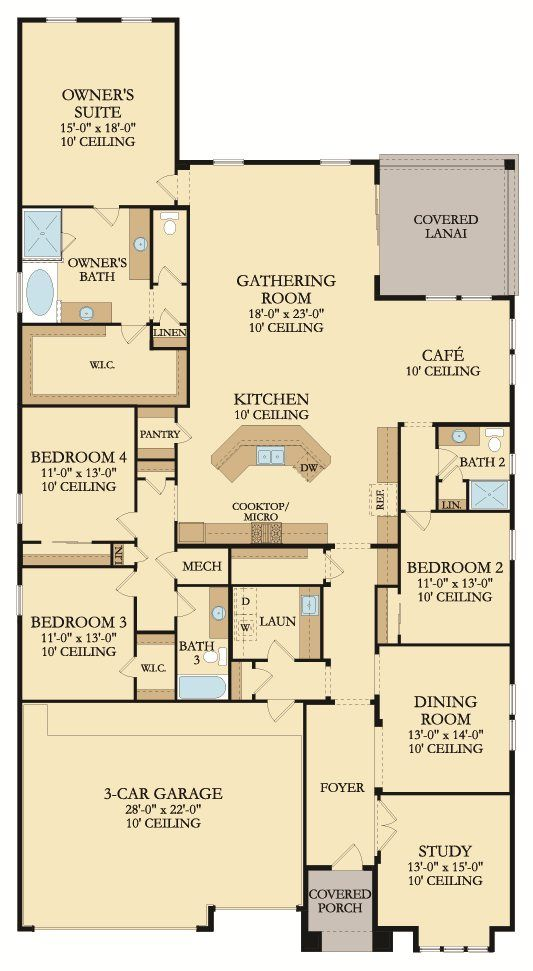 The Sanibel Home Floor Plan Part Of The Windward Ranch Executive Collection Lennar Dreamhome Everythingsinclud Floor Plans House Floor Plans Gathering Room