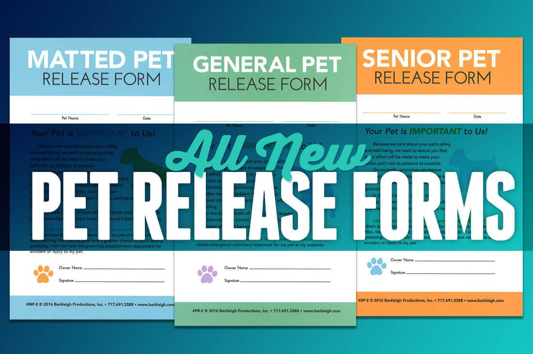 Pet Release Forms (With images) Grooming salon, New