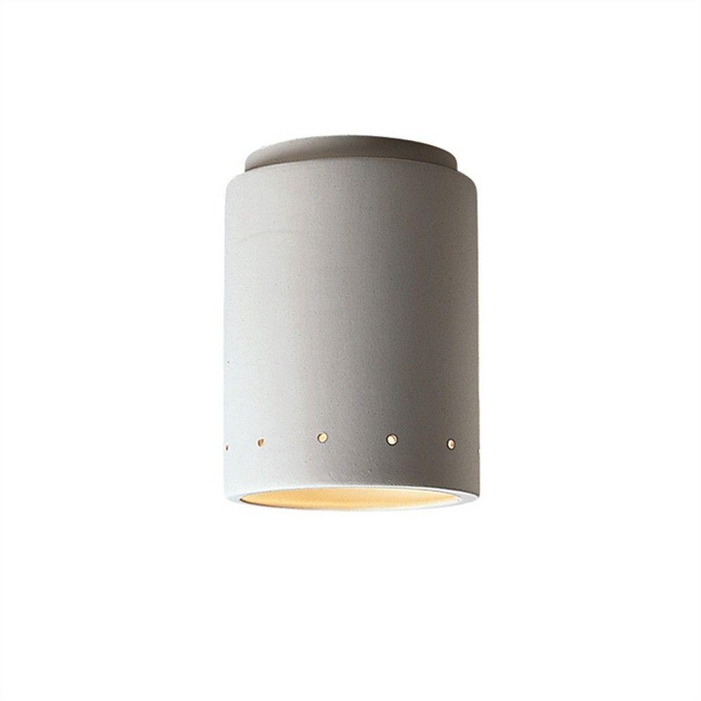 LightingDesignExperts Flushmount Cylinder W Perfs Outdoor