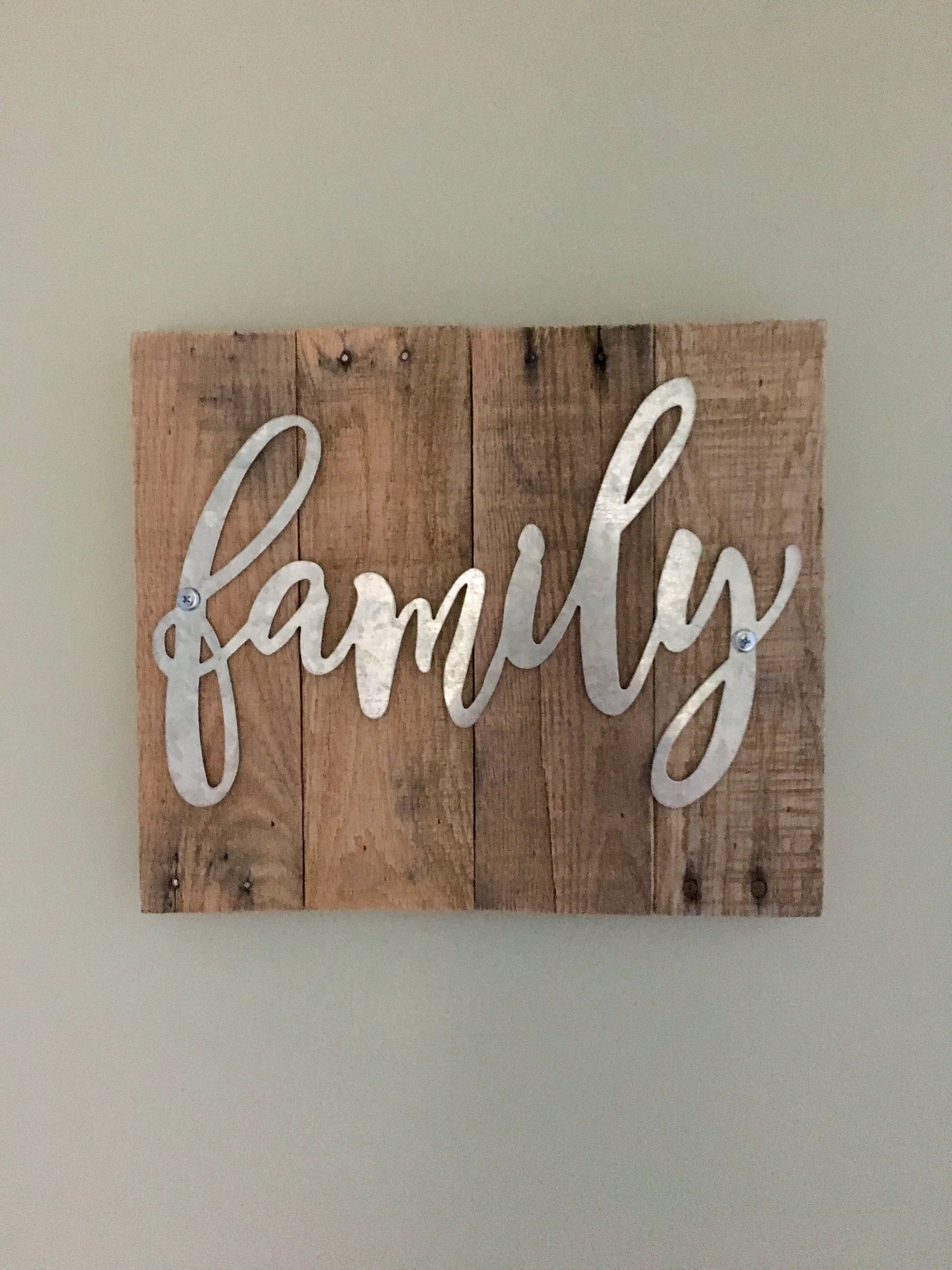 Wooden family sign rustic wood signs pallethouse pallet house