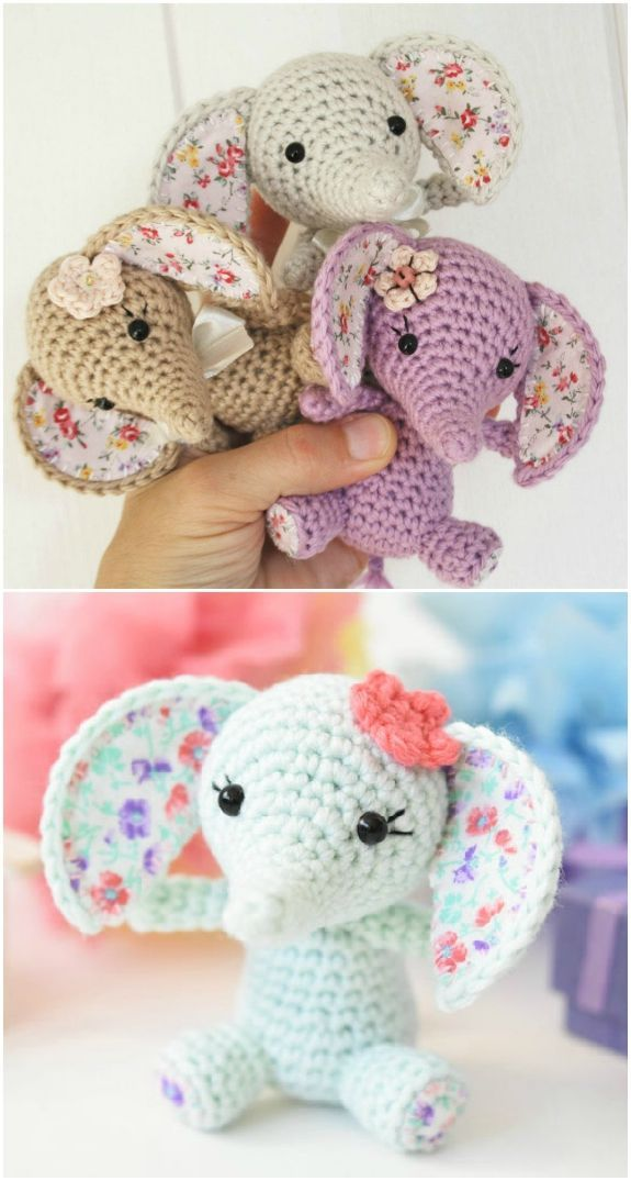 The Sweetest Crochet Elephant Patterns To Try #crochetelephantpattern The Sweetest Crochet Elephant Patterns To Try | The WHOot #crochetelephantpattern