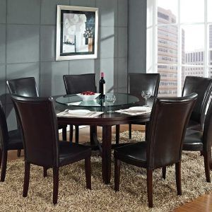 Dining Room Table Round Seats 8 Amazing Round Dining Room Tables Seats 8  Httpbehoovenpress Inspiration Design