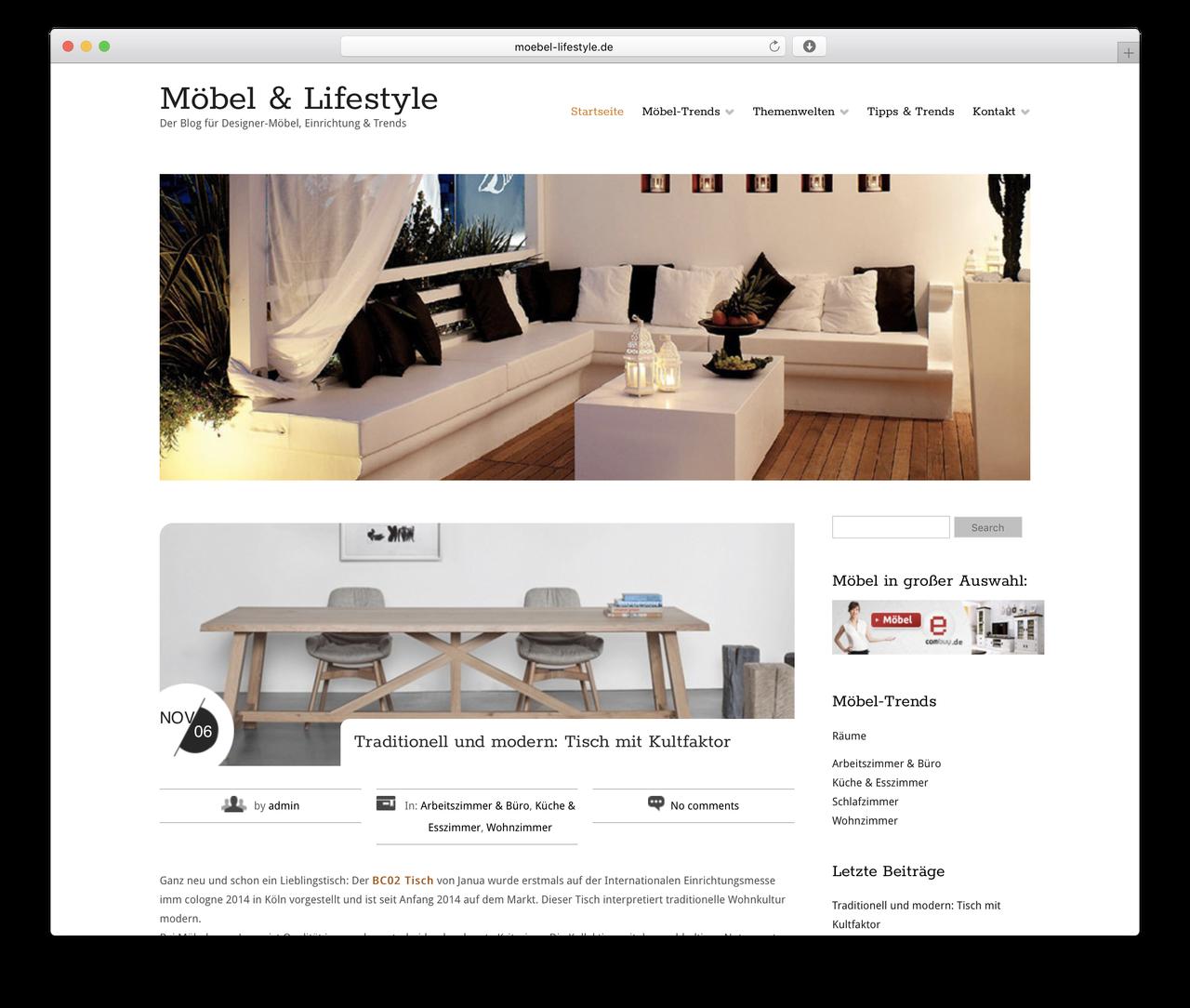 Möbel Plus De free wp template moebel lifestyle de