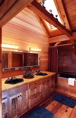 adirondack bathrooms | : Adirondack Cabin, Lodge and Great Camp rental  providing Adirondack .