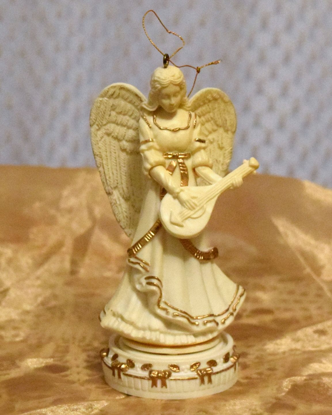 Vintage ENESCO Angel Musical Christmas Ornament by ...