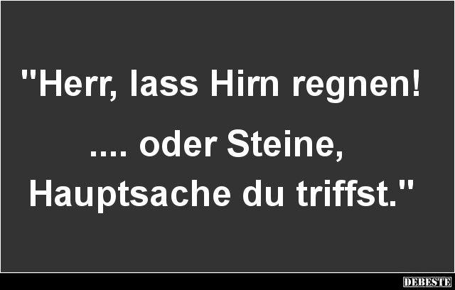 Herr Lass Hirn Regnen Lustige Bilder Spruche Witze Echt