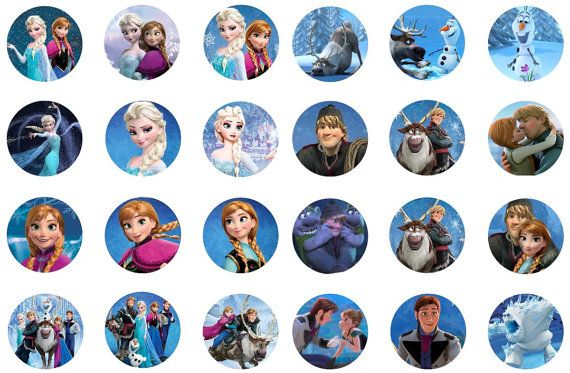 Disney Frozen 2 inch Circles Instant Download by KiMFDesigns